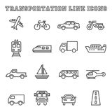 Transportation line icons Stock Images