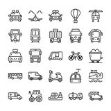 Transportation Line Icons Pack royalty free illustration