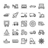 Transportation Line Icons Set vector illustration