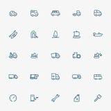 25 transportation line icons. Vector Stock Photo