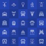 Transportation line icons Royalty Free Stock Photos