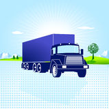Transportation and logistic. Big truck Stock Photography