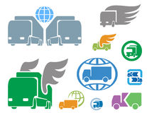 Transportation and logistics. Signs for emblem Royalty Free Stock Images