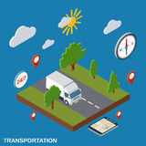 Transportation, logistics, delivery vector concept Stock Photos
