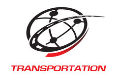 Transportation logo Royalty Free Stock Image
