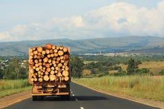 Transportation of Logs royalty free stock image