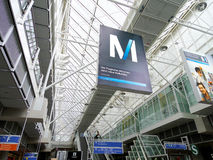 Transportation M sign in munich Royalty Free Stock Photography