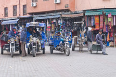 Transportation of Marrakesh Morocco Stock Photos