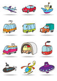 Transportation mashines Royalty Free Stock Image