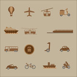 Transportation mass and private icons Stock Photo