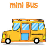 Transportation of mini bus collection Royalty Free Stock Images