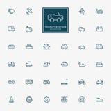 32 transportation minimal line icons. 32 transportation line icons vector Stock Image