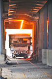Transportation molten hot steel Stock Photos