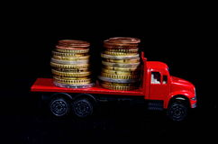 Transportation of Money Royalty Free Stock Images