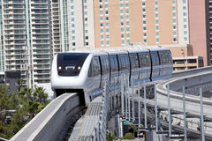 Transportation: Monorail Train Royalty Free Stock Photo
