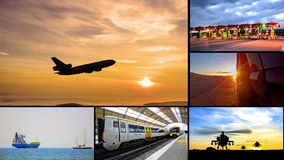 Transportation montage business trading. 4K transportation montage business trading video wall background stock video