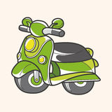 Transportation motor theme elements vector, eps Royalty Free Stock Images