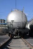 Transportation oil tanks by rail Stock Photos
