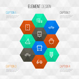 Transportation Outline Icons Set. Collection Of Road royalty free stock photos