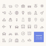 Transportation Outline Icons Royalty Free Stock Photo