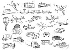 Transportation over the world vector set Stock Images