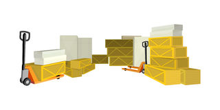 Transportation Oversized and Heavy Goods Stock Images