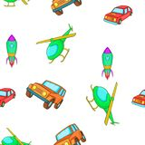 Transportation pattern, cartoon style royalty free illustration