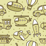 Transportation pattern . Stock Image
