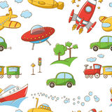 Transportation pattern Royalty Free Stock Photo