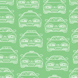 Transportation pattern . Vector seamless baby boy pattern with different cars Royalty Free Stock Image