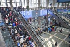 Transportation peak in Spring Festival holiday begins royalty free stock image