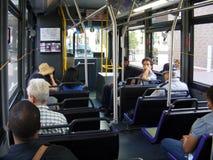 Transportation-People on a Bus. Transportation-People in a Mass Transportation Stock Photos