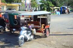 Transportation in Phnom Penh. Tuk tuk Cambodia. Transportation in Phnom Penh, Cambodia Stock Image
