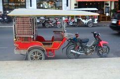 Transportation in Phnom Penh. Tuk tuk Cambodia. Transportation in Phnom Penh, Cambodia Royalty Free Stock Images