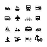 Transportation pictograms collection Stock Photos