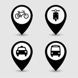 Transportation pointer icon great for any use. Vector EPS10. Royalty Free Stock Photos