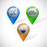 Transportation pointers illustration design Royalty Free Stock Photography