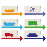 Transportation pointers  Royalty Free Stock Photos