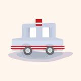 Transportation police car theme elements vector,eps Stock Image