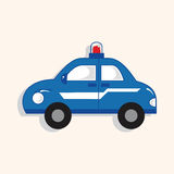 Transportation police car theme elements vector,eps. Vector illustration file Royalty Free Stock Images