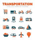 Transportation premium icon set Royalty Free Stock Image