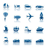 Transportation progress icon set Royalty Free Stock Photos