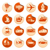 Transportation progress stickers Royalty Free Stock Images