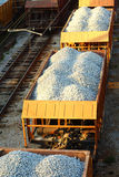 Transportation by rail. Image. stones royalty free stock photo