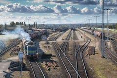 Transportation on a railway Stock Photo