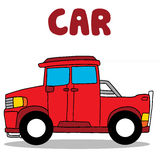 Transportation of red car collection Royalty Free Stock Photo