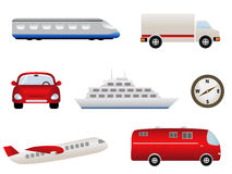 Transportation related icons Stock Photo
