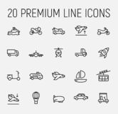 Transportation related vector icon set. vector illustration