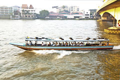 Transportation on the river in Bangkok in sunrise in a ferry Stock Photography