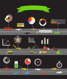 Transportation scheme Stock Images